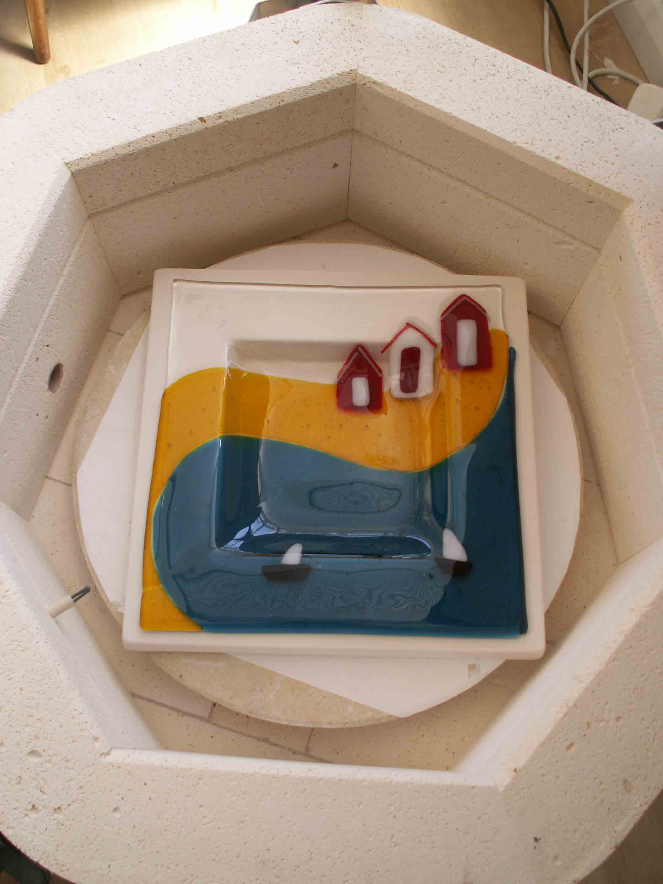 slumping a beach hut dish